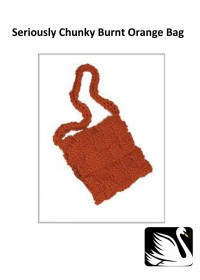Cygnet - Burnt Orange Bag in Seriously Chunky (downloadable PDF)