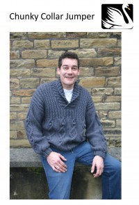 Cygnet - Chunky Collar Mens Jumper in Cygnet Chunky (downloadable PDF)