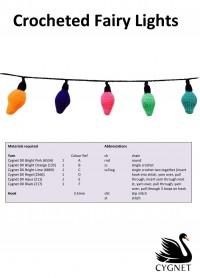 Cygnet - Crocheted Fairy Lights in Cygnet DK (downloadable PDF)