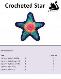Cygnet - Crochet Star in Cygnet DK (downloadable PDF)