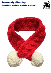 Cygnet - Double Sided Cable Scarf in Seriously Chunky (downloadable PDF)