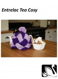 Cygnet - Entrelac Tea Cosy in Cygnet DK (downloadable PDF)