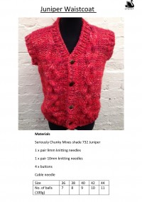 Cygnet - Juniper Waistcoat in Seriously Chunky Mixes (downloadable PDF)
