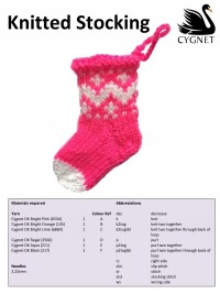 Cygnet - Knitted Stocking in Cygnet DK (downloadable PDF)