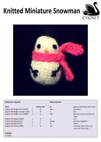 Cygnet - Knitted Miniature Snowman in Cygnet DK (downloadable PDF)