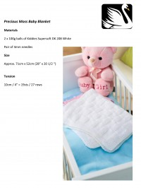 Cygnet - Precious Moss Baby Blanket in Kiddies Supersoft DK/Pure Baby DK (downloadable PDF)