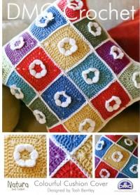 DMC 14893L/2 Crochet Colourful Cushion Cover (Leaflet)