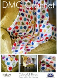 DMC 14894L/2 Crochet Colourful Throw (Leaflet)
