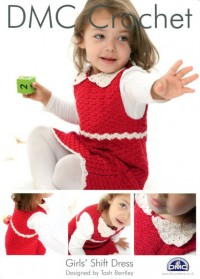 DMC 14929L/2 Crochet Girls' Shift Dress (Leaflet)