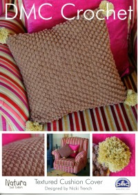 DMC 14938L/2 Crochet Textured Cushion Cover (Leaflet)