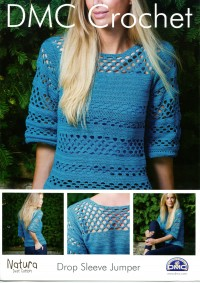 DMC 15040L/2 Crochet Drop Sleeve Jumper (Leaflet)