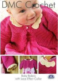 DMC 15043L/2 Crochet Baby Bolero with Lace Effect Collar (Leaflet)