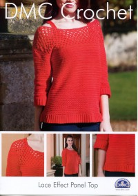 DMC 15091/2 Crochet Lace Effect Panel Top (Leaflet)