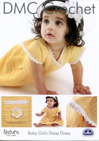 DMC 15093L/2 Crochet Baby Girl's Daisy Dress (Leaflet)