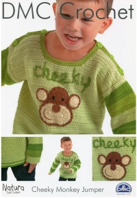 DMC 15209L/2 Crochet Childrens Cheeky Monkey Jumper (Leaflet)