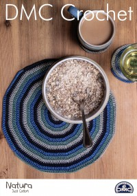 DMC 15400L/2 Crochet Spiral Placemat and Coasters (Leaflet)