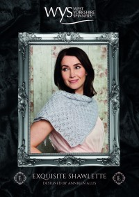 West Yorkshire Spinners - Exquisite Shawlette by Anniken Allis in Exquisite Lace (downloadable PDF)