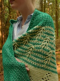 Christina Hadderingh - (NL) History of Trees Shawl in Scheepjes Stone Washed (downloadable PDF)