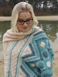 Christina Hadderingh - (ENG) The Shell Collector Wrap in Scheepjes Yarns (downloadable PDF)