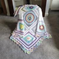 Helen Shrimpton - Bloomin' Blanket (UKTerms) in Stylecraft Special DK (downloadable PDF)