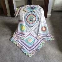 Helen Shrimpton - Bloomin' Blanket (USTerms) in Stylecraft Special DK (downloadable PDF)