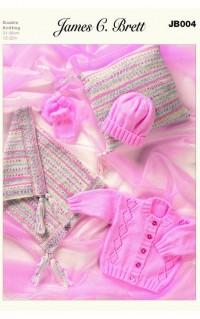 James C Brett 004 Pram Set in Baby DK and Magi Knit DK (leaflet)