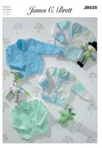 James C Brett 025 Cardigans in Baby Marble DK or Baby DK (leaflet)