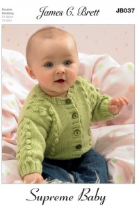 James C Brett 037 Cardigans and Sweater in Supreme Baby DK (leaflet)