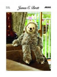 James C Brett 282 'Laid Back Larry' Sloth in Faux Fur (leaflet)
