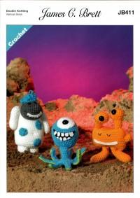 James C Brett 411 Magic Monsters 2 in Top Value DK (leaflet)