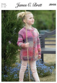 James C Brett 456 Tunic and Jacket in Marble Chunky (leaflet)