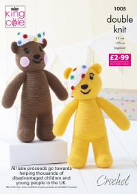 King Cole 1005 Pudsey and Blush Bear in Pricewise and Big Value DK (leaflet)