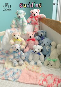 King Cole 2010 Cuddles Teddy Bear and Blanket (downloadable PDF)