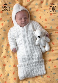 King Cole 2766 - Sweater, Jacket and Sleeping Bag in DK (downloadable PDF)