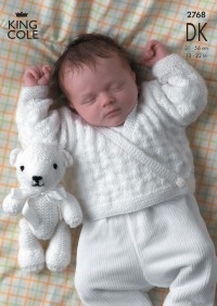 King Cole 2768 Sweater, Cardigans and Teddy Bear in DK (leaflet)