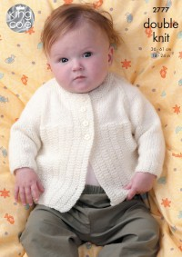 King Cole 2777 - Boys Jackets and Sweater in DK (downloadable PDF)