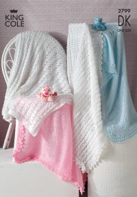 King Cole 2799 Shawls in DK (downloadable PDF)
