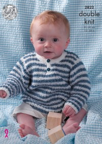 King Cole 2822 - Baby Sweaters and Cardigans in DK (downloadable PDF)