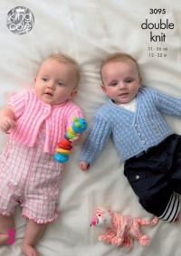 King Cole 3095 - Baby Coat, Cardigan and Jacket in Baby DK (downloadable PDF)