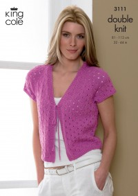 King Cole 3111 Ladies Bolero and Cardigan in Smooth DK (leaflet)