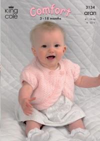 King Cole 3134 Jacket, Bolero and Sweater in Comfort Aran (leaflet)