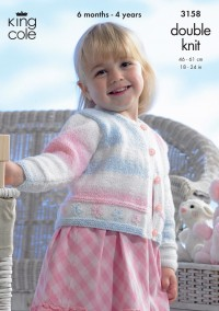 King Cole 3158 Childs Cardigan and Bolero in Melody DK (downloadable PDF)