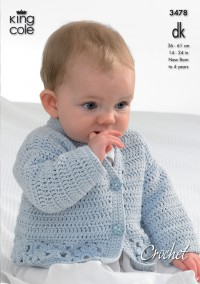 King Cole 3478 Cardigan, Hooded Gilet, Long and Short Sleeved Sweater in Bamboo Cotton DK (leaflet)