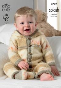 King Cole 3769 Baby Set in Splash DK (leaflet)