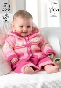 King Cole 3770 Baby Set in Splash DK (leaflet)