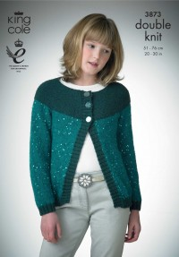 King Cole 3873 Girls Jacket, Hat, Neck-Scarf and Collar in Galaxy DK (downloadable PDF)