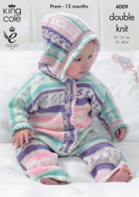 King Cole 4009 All-in-One, Jacket and Socks in Cherish DK (leaflet)