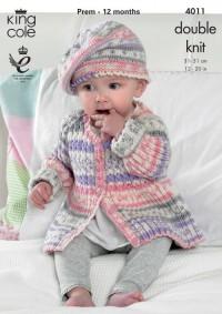 King Cole 4011 Baby Set in Cherish DK (downloadable PDF)