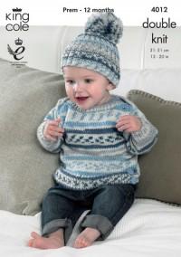 King Cole 4012 Baby Set in Cherish DK (downloadable PDF)