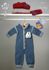 King Cole 4228 Outdoor Suit, Jacket, Hat and Top in Comfort Chunky (downloadable PDF)